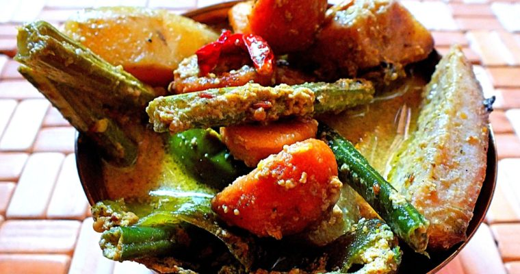 Sukto (A traditional Bengali mixed vegetables)